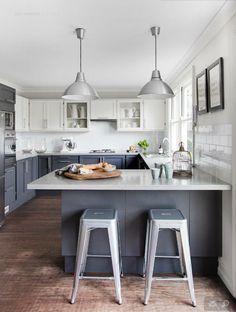 Gray-blue kitchen design