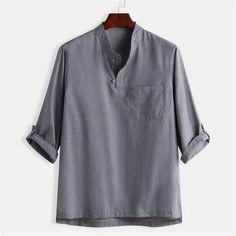 Bluza de vara pentru barbati, model nou la moda, din amestec de bumbac si canepa, tricou modern