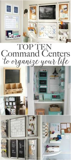 I used to stick my nose up at command centers. But I've realized they are FABULOUS for organizing your life. 10 Top Family Command Centers to Organize Your Life Treatment Projects Care Design home decor Organize Your Life, Organizing Your Home, Organising, Family Command Center, Command Centers, Command Center Kitchen, Kitchen Message Center, Family Message Center, Mobile Command Center