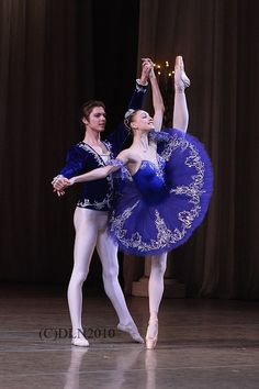 Viktor Lebedev and Olga Smirnova while at the Vaganova Ballet Academy