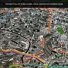 Londres desenhada à mão | Ponto Eletrônico