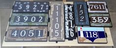Whether you are looking for a simple number or an artistic masterpiece our artisans can create the perfect custom personalized house number for you Address Numbers, Address Plaque, Fusion Pro Grout, Peeling Paint, Commercial Flooring, House Numbers, Curb Appeal, Craftsman, Signage