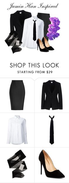 """""""Jumin Han Inspired Outfit"""" by raven-writer on Polyvore featuring Roland Mouret, Armani Collezioni, Misha Nonoo, Balenciaga, Gerbe and Liliana"""