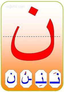 الحروف الأبجدية حرف النون Learn Arabic Alphabet Arabic Alphabet For Kids Arabic Alphabet Letters