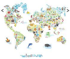 Iconic World Map