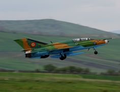 A Romanian air force Lancer takes off from Campia Turzii, Romania, April during Exercise Dacian Viper The week-long, bilateral training exercise between the U. and Romanian air forces concluded April (U. Russian Military Aircraft, Mig 21, Romania Travel, Air Force Aircraft, Russian Air Force, Staff Sergeant, Armed Forces, Warfare, Fighter Jets