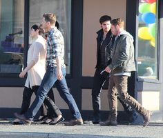 Josh Dallas, Ginnifer Goodwin, Sean Maguire and Colin O'Donoghue - Behind the scenes- 5 * 5 - 21 August 2015