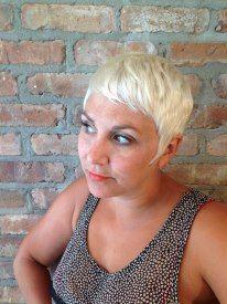 Ultra Blonde Pixie - Stylist: Kristin Lamarre - Pure Rituals Salon, Buchanan, MI #purerituals