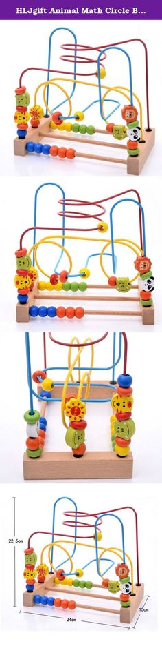HLJgift Animal Math Circle Bead Rail Maze Wooden Toys for Kids Early Educational Toys. 1. size: 24cm * 22.5cm * 15cm 9.45 * 8.86 * 5.91 inch 2. Weight: about 0.7Kg 3. Material: Wooden 4. Above 3 years old kids can use it 5. Brightly colored, smooth-sanded pieces, Water Based Paint is Harmless to Baby.Helps build early shape, color and size differentiation skills.No assembly required, no pieces will come out. Washes easily with mild soap & warm water.