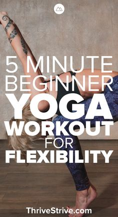 5 Minute Beginner Yoga Workout for Flexibility