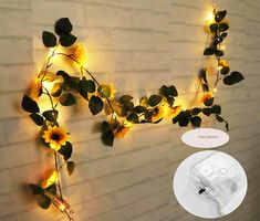 Sunflower LED String Lights