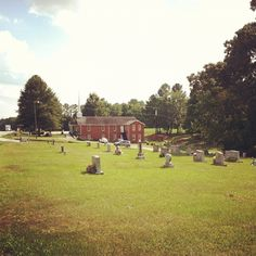 Along my drive to work. I love cemeteries