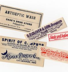 1900 Pharmacy Labels