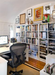 Articles about collection/home office on Apartment Therapy, a lifestyle and interior design community with tips and expert advice on creating happy, healthy homes for everyone. First Apartment, Apartment Therapy, Condo, Cozy Office, Room For Improvement, Interior Design Business, First Home, Frugal Living, Architecture