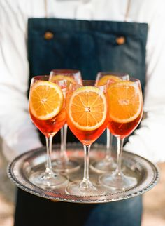 Signature Cocktail :: Aperol Spritz from Paula LeDuc Snippet & Ink Wine Cocktails, Summer Cocktails, Cocktail Drinks, Fun Drinks, Aperol Drinks, Beverages, Mixed Drinks, Aperol Spritz Recipe, Cheers