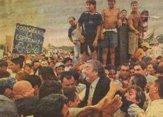 Néstor Kirchner en Villa Palito  MARZO 11, 2004 en el Encuentro Nacional de la Militancia, 2004