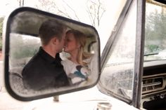 Ford Engagement Photos with an old Ford Truck by Stephanie French of French Photography.