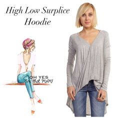 ☕️LAST ONE- size Small- Saturday High Low Tee Oh you are going to live in this gray surplice high low hoodie! V-neck front and high low hem dials up the comfort factor! Easy wardrobe update! Great for these spring days. Made in Mexico, 95% rayon, 5% spandex. 🙋🏼Don't forget 20% off bundles! Tops Tunics