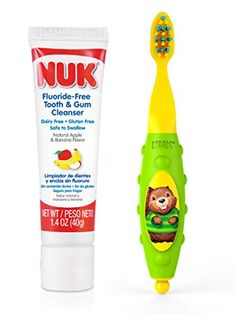 NUK Toddler Tooth and Gum Cleanser with 14 Ounce Toothpaste Colors May Vary * Details can be found by clicking on the image.Note:It is affiliate link to Amazon.