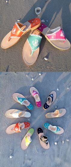 Monogrammed Jack Rogers sandals