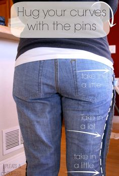 It seems that for every perfect pair of jeans, they are hundreds are ill-fitting and unflattering denim disasters. This DIY tutorial will transform any pair of jeans from frumpy to fabulous.