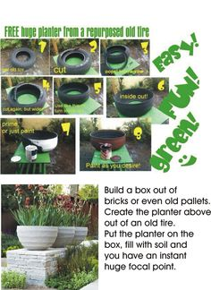 DIY Garden focal point.