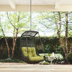Jungle Outdoor Patio Swing Chair Without Stand In Peridot