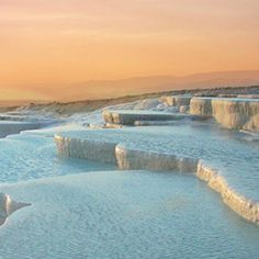 THE TRAVERTINE POOLS OF PAMUKKALE - Turkey