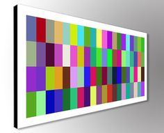Modern Abstract Print in Mutli-Colors  Print on by OsnatFineArt
