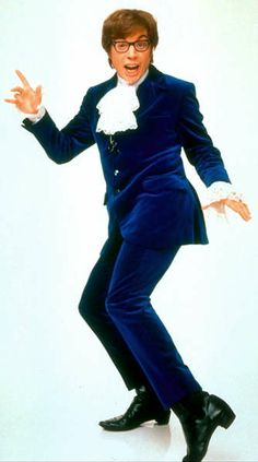 Austin Powers: International Man of Mystery - 1997 - Mike Meyers as Austin Powers. designer: Deena Appel