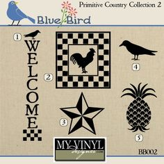 DIGITAL DOWNLOAD ... Country vectors in AI, EPS, GSD, & SVG formats @ My Vinyl Designer #myvinyldesigner #bluebird
