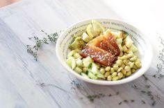 Healthy poke bowl