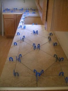 Ceramic Tile Kitchen Countertop | Ceramic Tile Kitchen Countertops and Backsplash