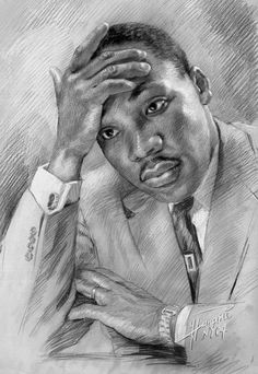 Portrait Mastery - Martin Luther King Jr by Ylli Haruni ~ pencil portrait Discover The Secrets Of Drawing Realistic Pencil Portraits Black Love Art, Black Girl Art, Black Man, African American Art, African Art, American Women, American History, Black Art Pictures, Black Artwork