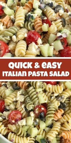 mealrecipes delicious italian recipes summer pasta salad quick easy past meal Italian Pasta Salad Pasta Salad Easy Pasta Salad Recipes Easy Italian pastYou can find Pasta salad recipes and more on our website Easy Pasta Salad Recipe, Easy Salad Recipes, Healthy Recipes, Easy Salads, Easy Meals, Quick Recipes, Pasta Salad Recipes Cold, Simple Pasta Salad, Rotini Pasta Recipes