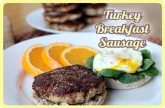 Turkey Breakfast Sausage -- For a lean, flavorful high protein start to your day (when I can eat meat again-- in October-- I'm definitely trying out this recipe, with the addition of a little fennel.)