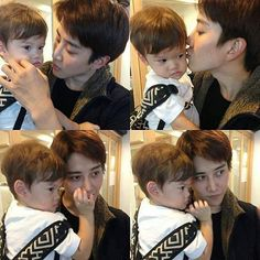 dad is there and son is also there. Asian Actors, Korean Actors, Mike D Angelo, Bangkok, Mr Right, Parenting Goals, Korean Babies, Korean People, Ulzzang Couple