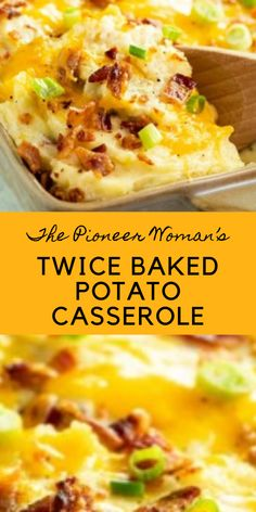 The Pioneer Woman's Twice Baked Potato Casserole Best Picture For Asian Recipes m Chicken Mushroom Recipes, Mexican Chicken Recipes, Easy Chicken Dinner Recipes, Healthy Chicken Recipes, Asian Recipes, Cooking Recipes, Vegetable Recipes, The Pioneer Woman, Pioneer Women