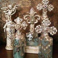 Michelle Butler Designs Bottles ❤️SHOP❤️  www.crownjewel.design
