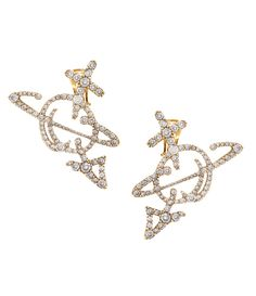 Unisex Orb Earrings Oxidised Gold  #AW17