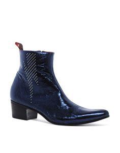Jeffery West Lightning Bolt Chelsea Boots