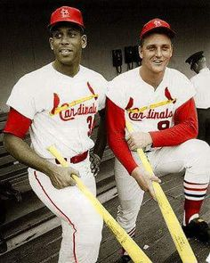 Louis Cardinals infielder Orlando Cepeda and outfielder, Roger Maris, August Maris and Cepeda are the Cardinal's double threat that have moved the team into a lead in the National. Get premium, high resolution news photos at Getty Images St Louis Baseball, St Louis Cardinals Baseball, Baseball Park, Stl Cardinals, Baseball Players, Mlb Players, Baseball Stuff, Hockey, Basketball