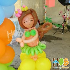 Hula Hawaiian Girl Balloon #HouseofBalloon #HOB #balloonart #balloongirl #hawaii…