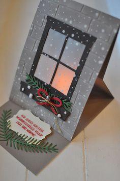 Easel-Card mit Lichteffekt - stempeldichbunt