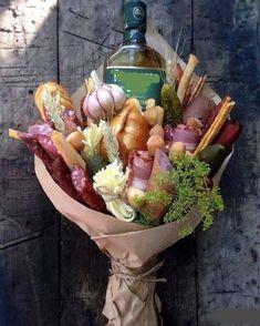 Food Bouquet, Diy Bouquet, Candy Bouquet, Gourmet Gifts, Food Gifts, Vegetable Bouquet, Edible Bouquets, Gifts For Cooks, Edible Arrangements