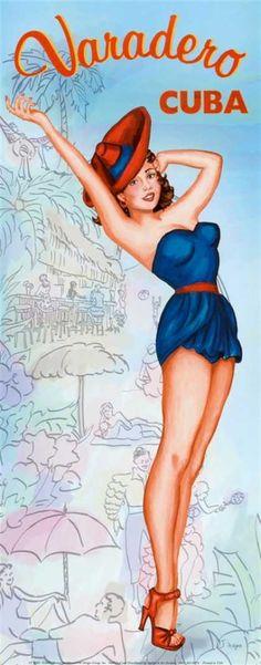 Cuba Vintage Poster - Visit #HavanaCubanFood found in West Palm Beach, Florida…