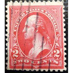 United States Postage, George Washington, 2 C, Triangle C, First Bureau Issue 1894 used VF