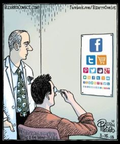 Are you seeing when it comes to social media? I know I don't - I would've flunked this Social Media Eye Chart from Bizarro Comics by Dan Piraro.