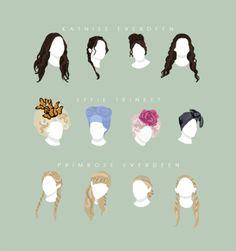Hairdos of #TheHungerGames!