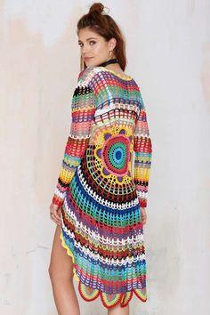 UNIF Mandala Crochet Cardigan - Cardigans   Unif